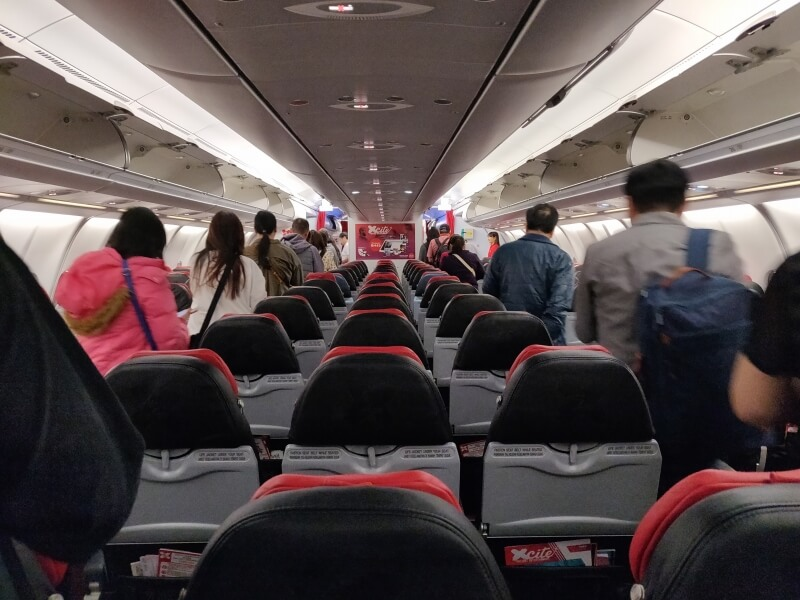 エアアジア X D7370便 台北/桃園TPEから大阪/関西KIXに搭乗