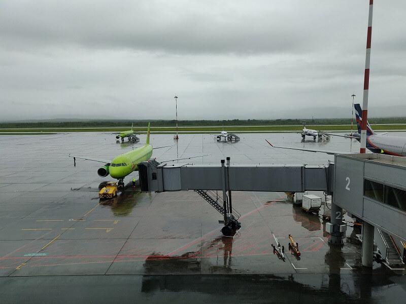 S7航空に搭乗、ウラジオストクから大阪まで2時間