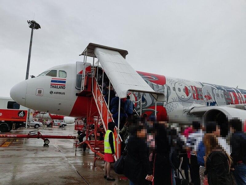 バンコクからミャンマー マンダレーまでタイ エアアジア FD244便に搭乗