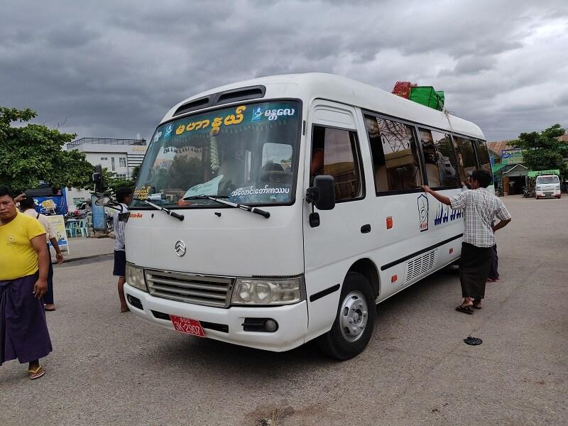 ミャンマーのマンダレーからモンユワ、バガンにバスで移動