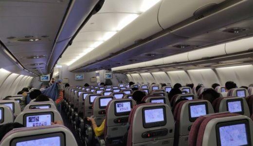 台北からバンコクへ、チャイナ エアライン(CI 837便)のエコノミークラス