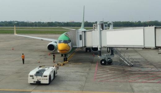 タイ国内線のノックエア DD9215に搭乗、ウドンターニーからバンコクまで1時間